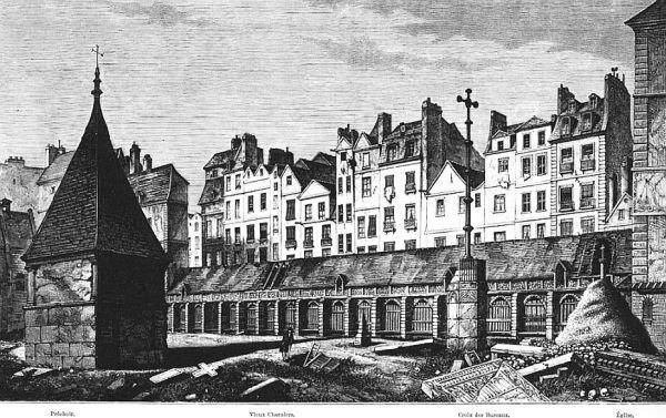 Der Cimetière des Saints-Innocents im 18. Jahrhundert