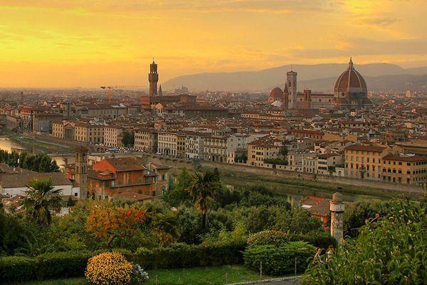Panoramabild von Florenz