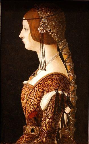Portrait der Bianca Maria Sforza von de Predis