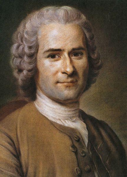 Portrait von Jean-Jacques Rousseau