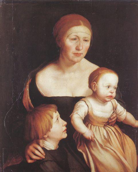 Portrait von Hans Holbeins Familie.
