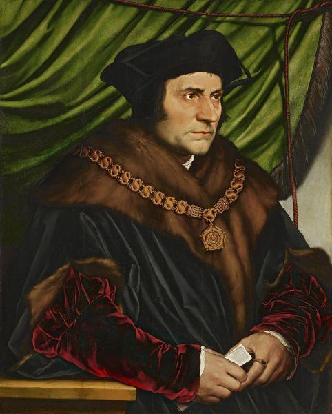 Der Humanist Thomas More von Hans Holbein gemalt.