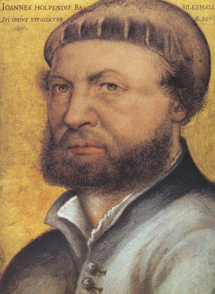 Selbstportrait von Hans Holbein