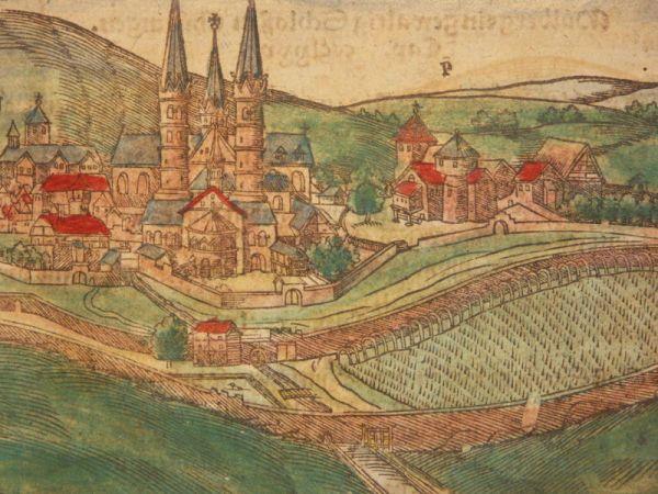 Ansicht der Fuldaer Basilika um 1600.