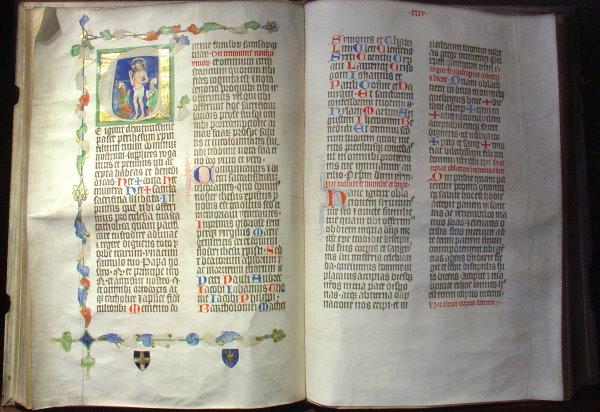 Handschrift des Liber Pontificalis aus dem Besitz Albert de Sternbergs