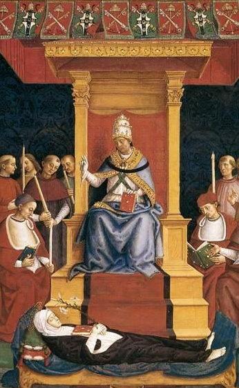 Heiligsprechung Katharinas von Siena, Gemälde von Pinturicchio
