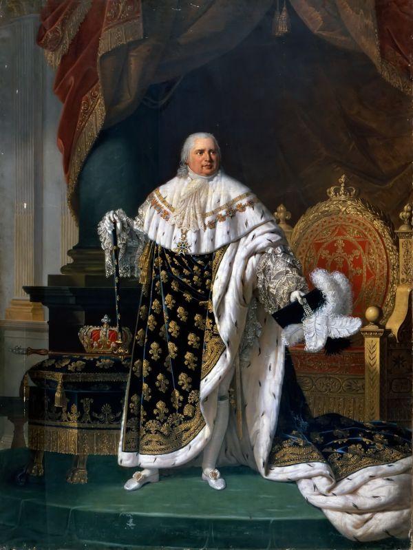 Louis XVIII. von Frankreich im Krönungsornat