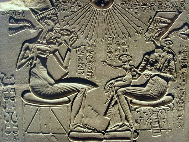 Familienszene aus Amarna.