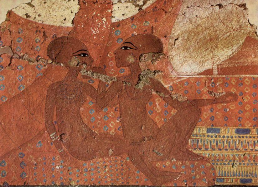 Relief mit zwei Töchtern Echnatons.