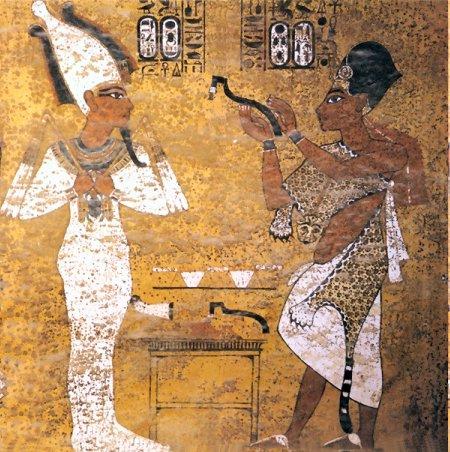 Gemälde aus dem Grab Tutanchamuns.