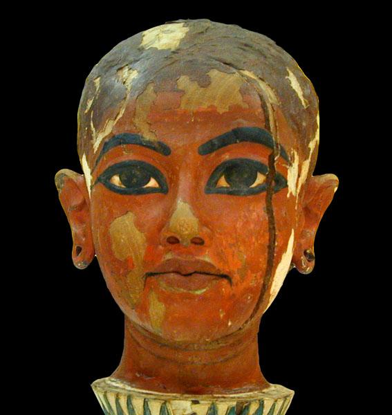 Büste des kindlichen Tutanchamun.