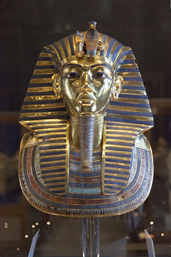 Goldene Totenmaske von Pharao Tutanchamun.