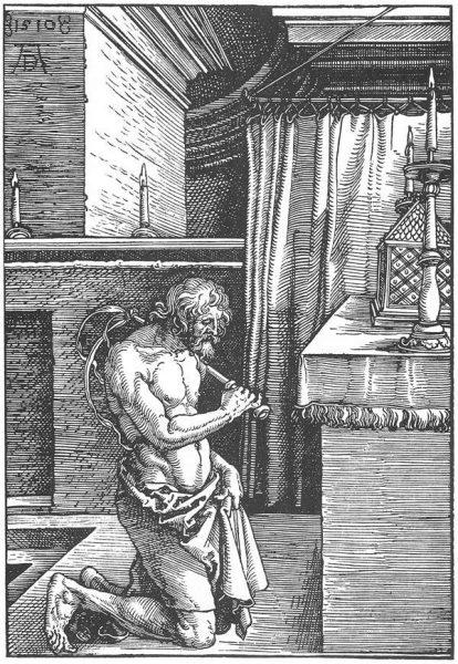 Bild eines Büßers von Albrecht Dürer.
