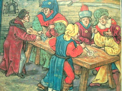 Mittelalterliche Darstellung eines von Juden begangenen Hostienfrevels.