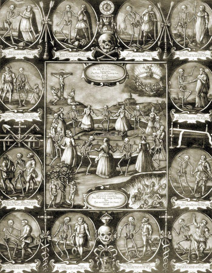 Totentanz-Darstellung aus dem 16. Jahrhundert.