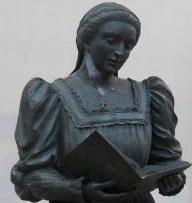 Statue von Maria Enriquez de Luna in Gandia.