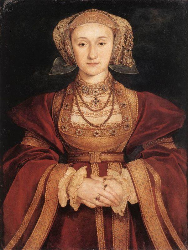 Portrait der Anna von Kleve, gemalt von Hans Holbein 1539.