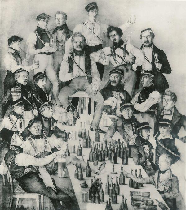 Darstellung des Corps Gottingen, 1837.