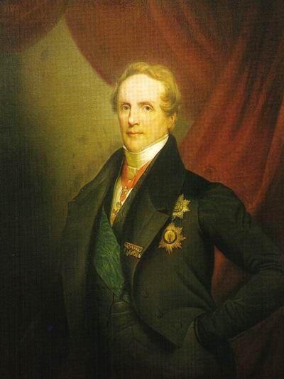 Portrait von Friedrich August II. von Sachsen.