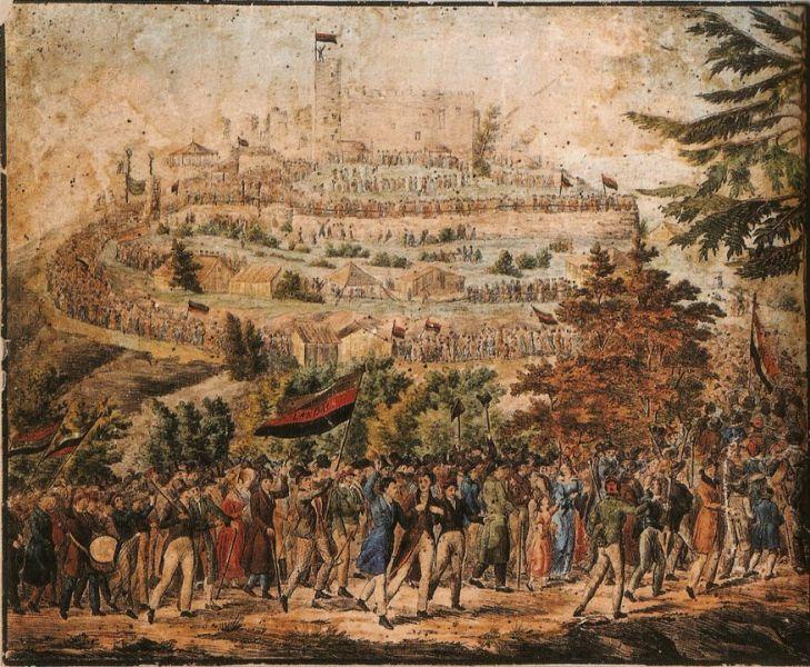 Darstellung des Hambacher Festes 1832.