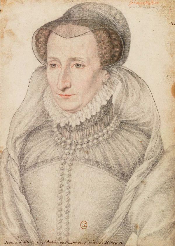 Zeichnung von Jeanne d'Albret, Königin von Navarra.