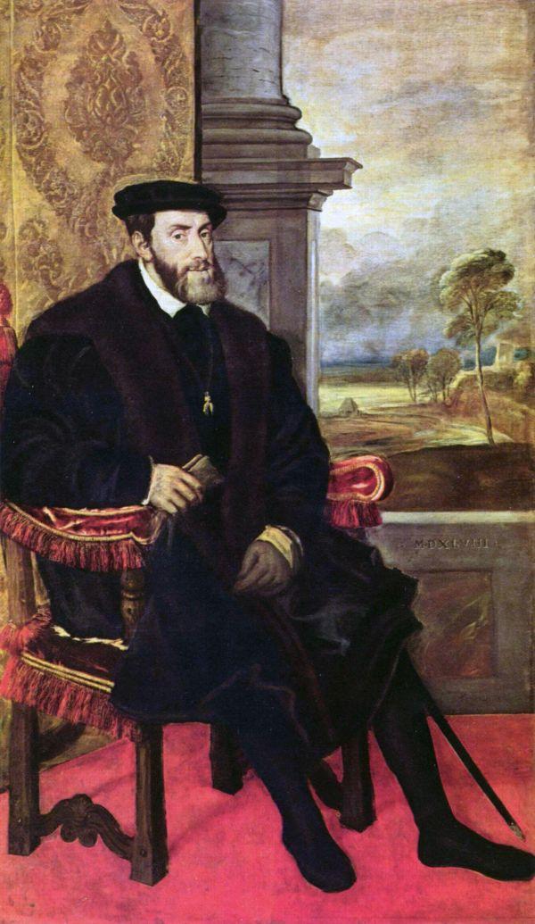Portrait des älteren Kaisers Karl V.