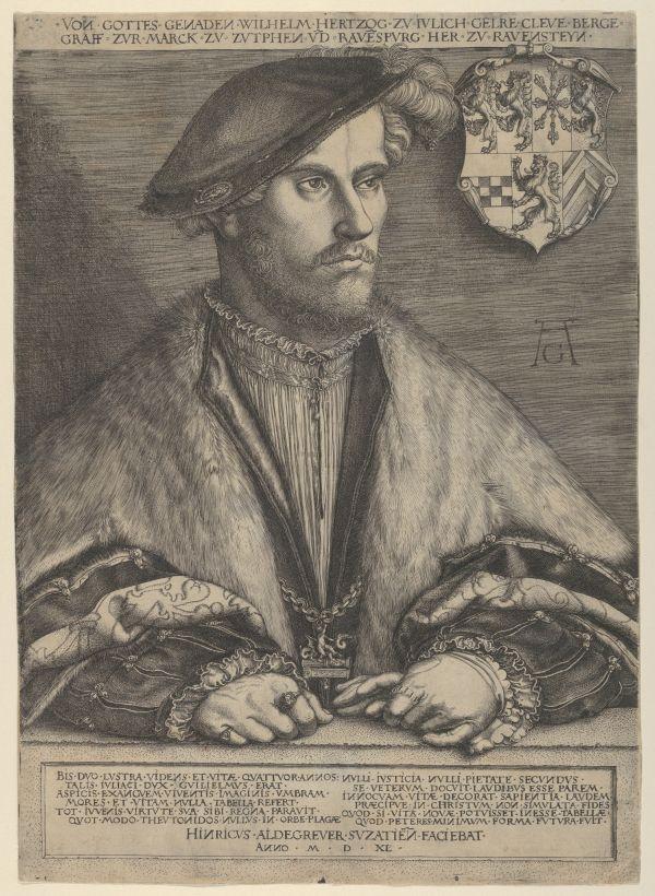 Portrait Wilhelms des Reichen um 1540. Er war der Herrscher über Jülich-Kleve-Berg.
