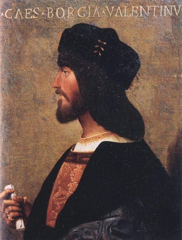 Gemälde von Cesare Borgia, Lucrezias Bruder, um 1500.