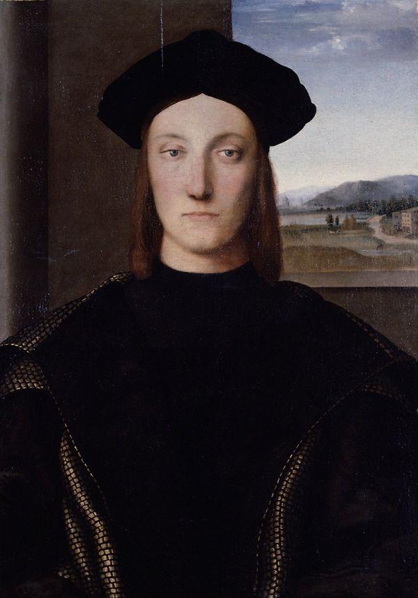 Gemälde von Raffael, das Guidobaldo da Montefeltro zeigt.