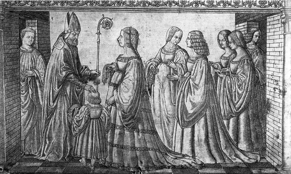 Gedenkplakette mit dem Bildnis von Lucrezia Borgia als Herzogin von Ferrara.
