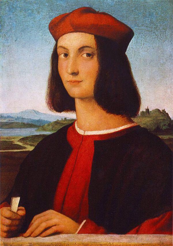 Gemälde von Raffael, das Pietro Bembo als jungen Mann zeigt.