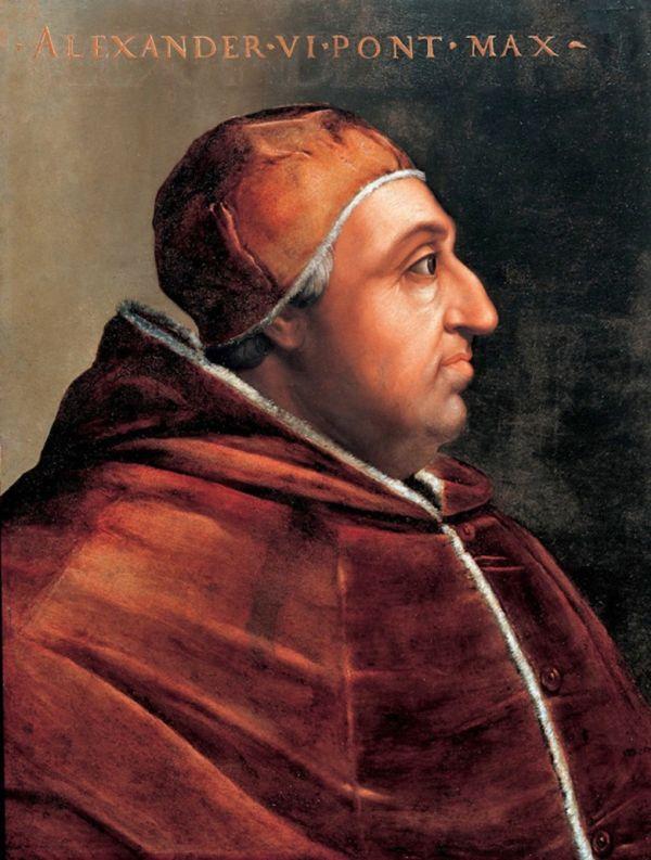 Gemälde des Borgia-Papstes Alexander VI., Vater von Lucrezia.