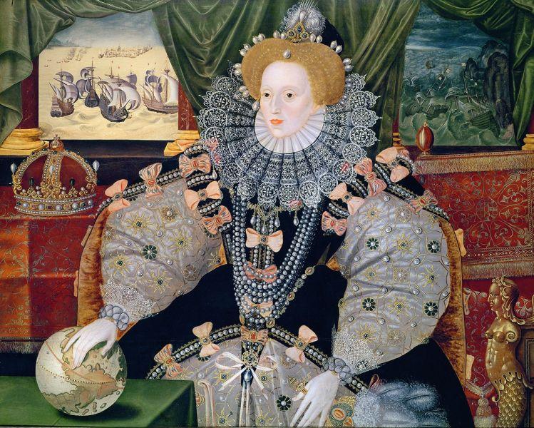 Das so genannte Armada-Portrait, das Elizabeth I. von England ca. 1588 zeigt.