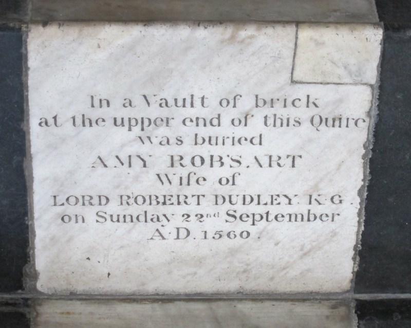 Grabplatte der Amy Robsart