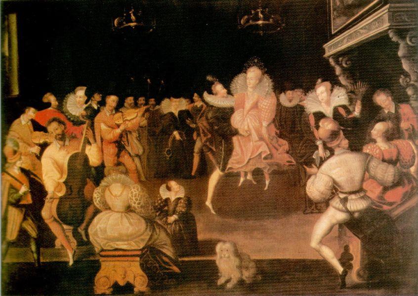 Darstellung eines höfischen Festes im späten 16. Jahrhundert.