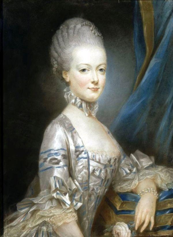 Marie Antoinette als Braut im Alter von 14 Jahren.