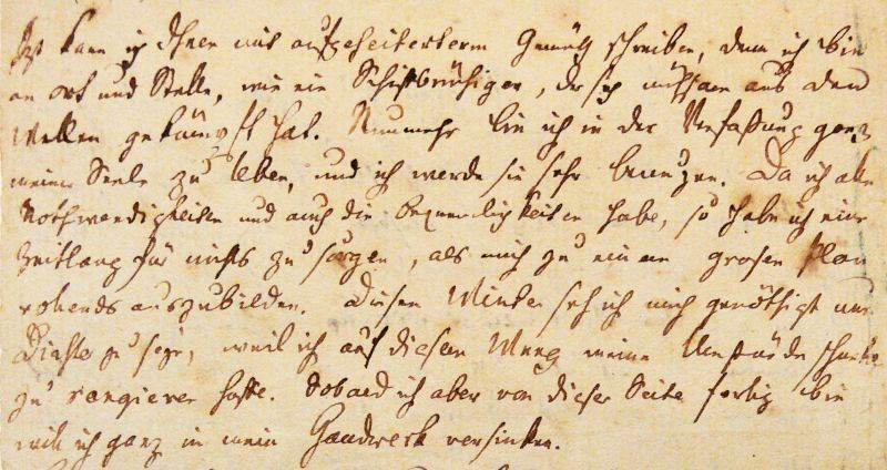 Handschriftlicher Brief Friedrich Schillers.