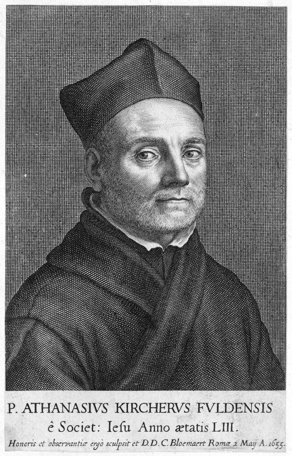 Portrait des frühneuzeitlichen Gelehrten Athanasius Kircher.