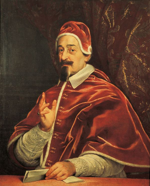 Portrait von Fabio Chigi als Papst Alexander VII.