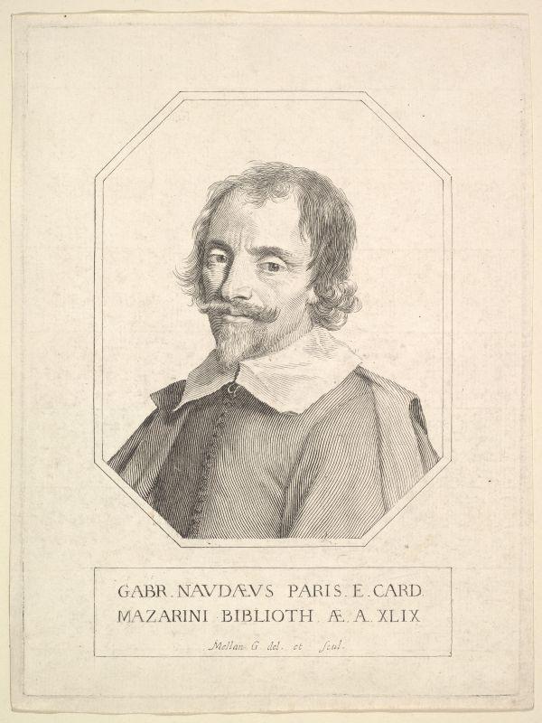 Portrait des französischen Bibliothekars Gabriel Naudé.