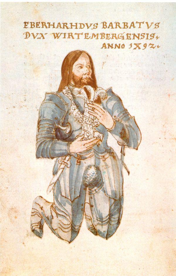 Gemälde des württembergischen Grafen Eberhard im Barte