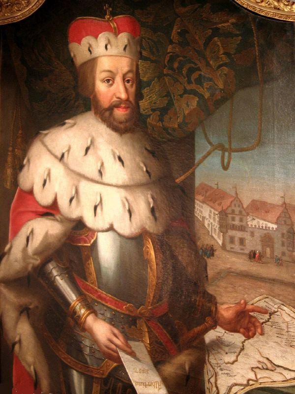 Bildnis von Albrecht VI., Erzherzog von Österreich und Gründer der Universität Freiburg