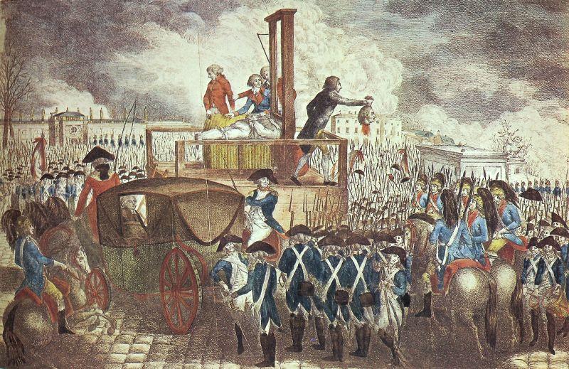 Die Hinrichtung des französischen Königs Ludwig XIV. im Jahr 1893.