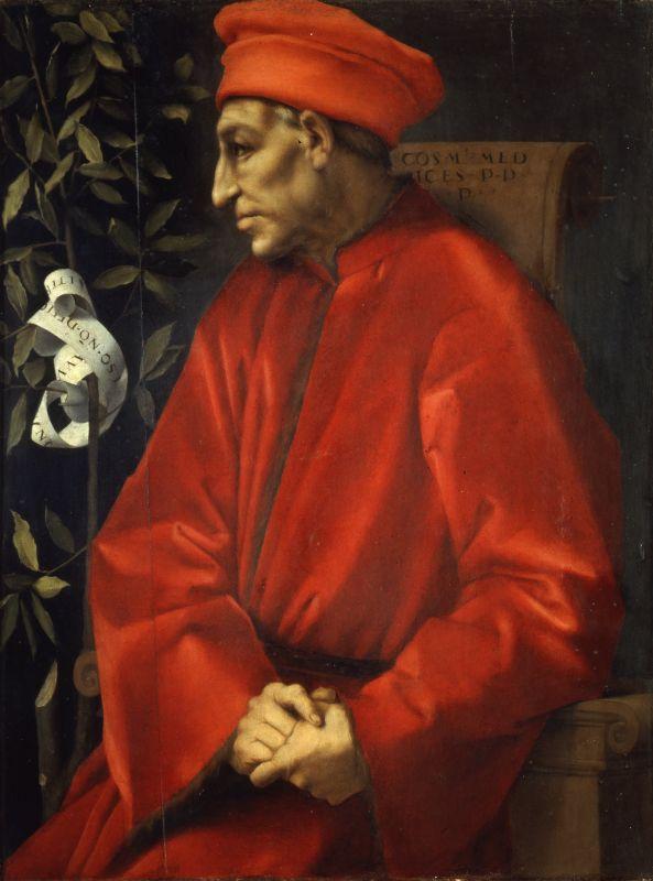 Portrait von Cosimo dem Alten aus Florenz.