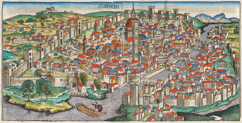 Florenz in einer Darstellung aus dem 15. Jahrhundert.