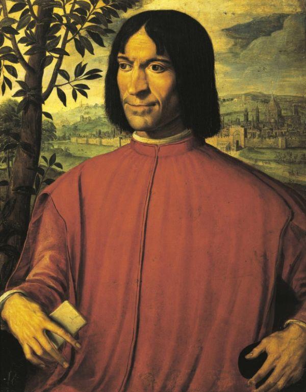 Portrait von Lorenzo dem Prächtigen aus Florenz.
