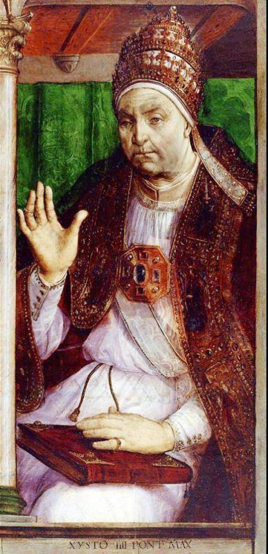 Portrait von Francesco della Rovere, Papst Sixtus IV.