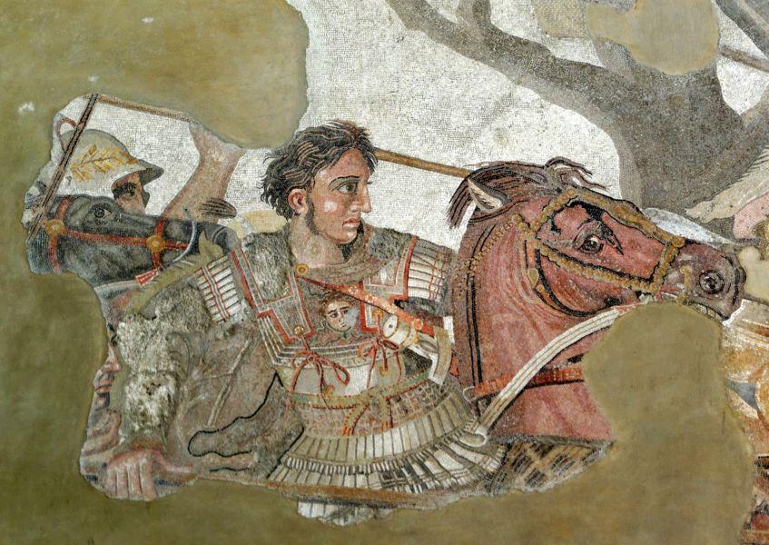 Mosaik Alexanders des Großen in der Schlacht, Pompeji.