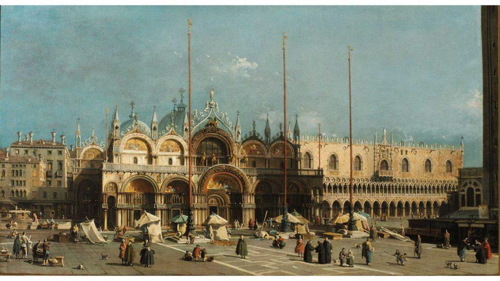 Der Markusdom in Venedig, Gemälde von Canaletto.