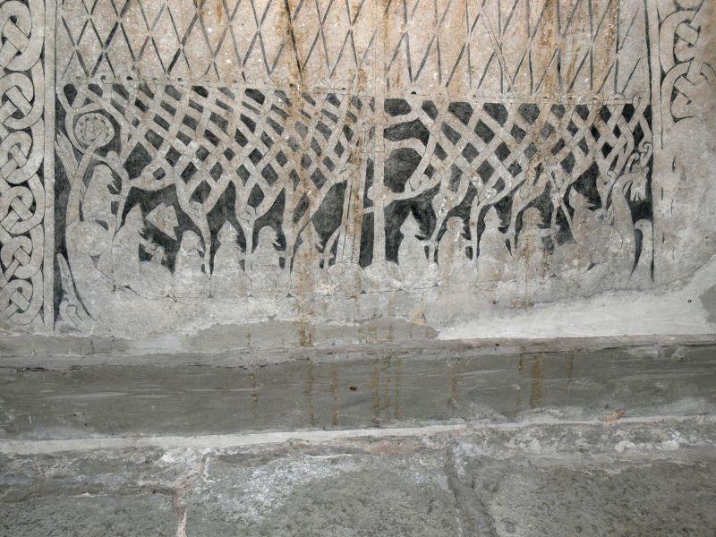 Bildstein aus der Wikingerzeit, der ein Wikingerschiff zeigt.